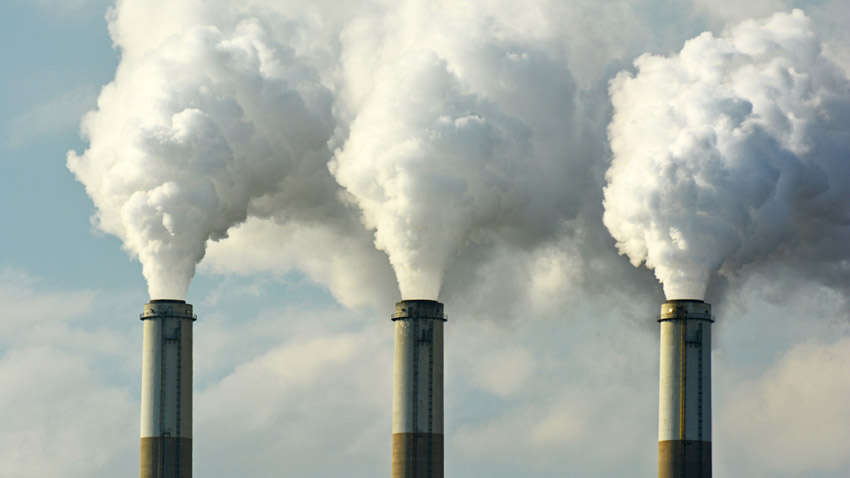 Carbon dioxide (CO2) in atmosphere