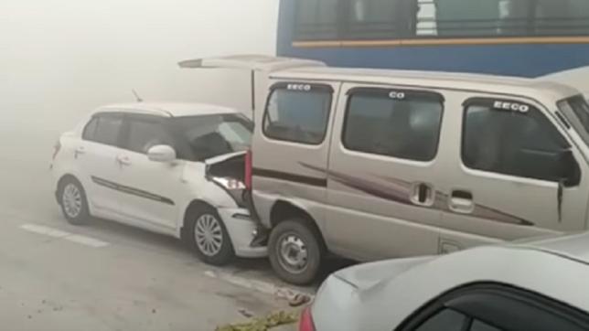 Accident on Yamuna Expressway