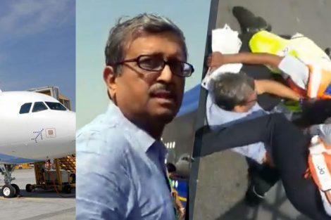 IndiGo staff argues and manhandles passenger