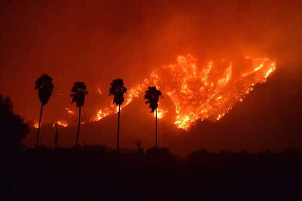 Live Video : California Wildfires Latest Updates   Thomas fire