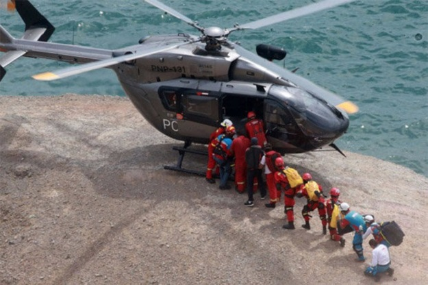 Bus that fell down from a steep cliff near Peru's ocean-side capital Lima on Tuesday
