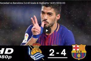 Real Sociedad vs Barcelona 2-4 All Goals & Highlights 14-01-2018 HD