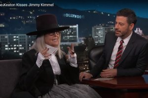 Diane Keaton Kiss Jimmy Kimmel As an Excuse for Her New Movie