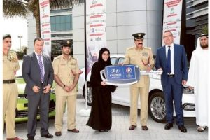 Winners of White point system get award by Dubai Police