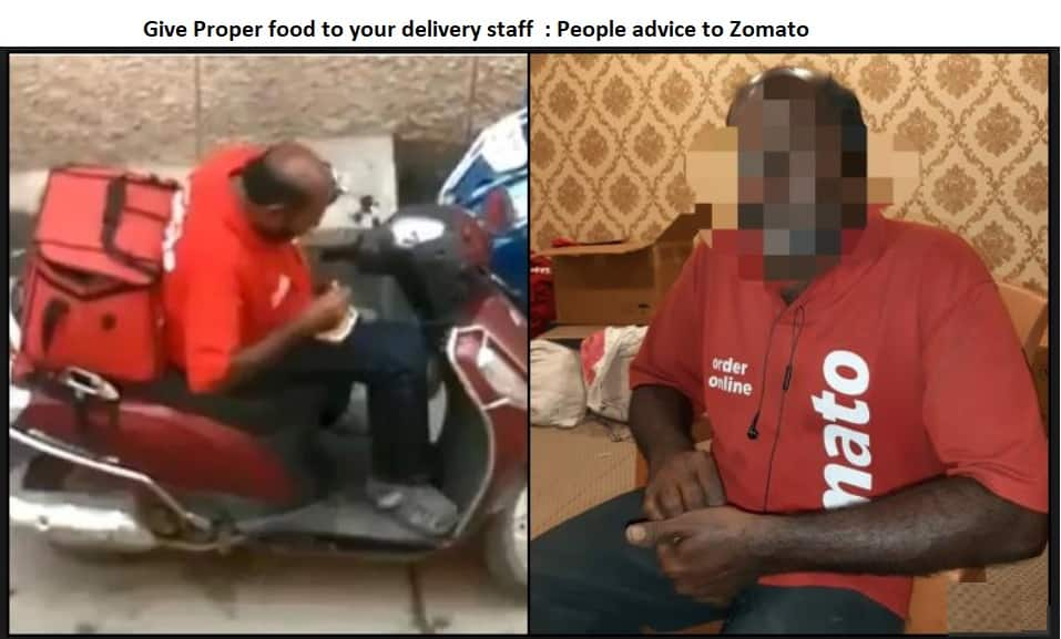 Give Proper food to your delivery staff - People advice to Zomato