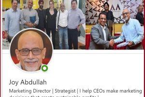 Joy Abdullah-Top LinkedIn Marketing Influencer to follow in 2019