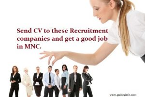 Contact & send CV to Recruitment company and Influencers to get a job.