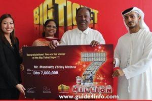 Winners of Abu Dhabi www.guide4info.com Big Ticket Series 201