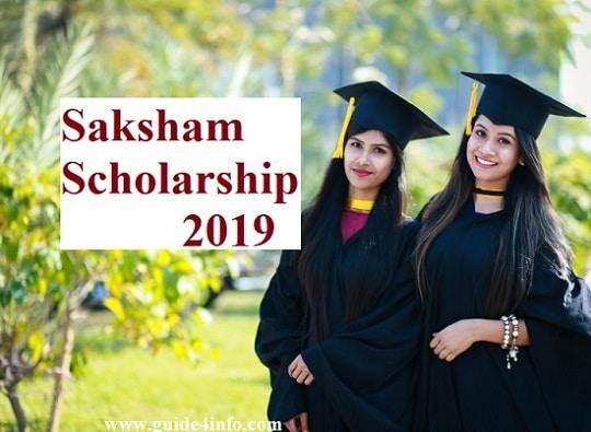 Saksham Scholarship 2019
