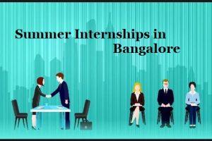 Summer Internships in Bangalore