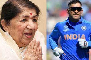 Lata Mangeshkar Ji request MS Dhoni not to retire from sports