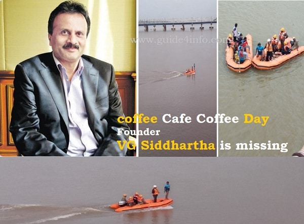 VG Siddhartha Missing www.guide4info.com LIVE updates