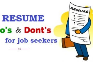 10 DONT'S of CV - Resume writing