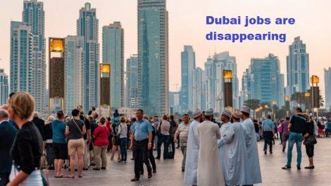 Dubai job decline in 2020