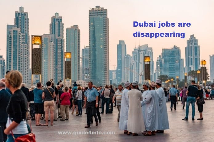 Dubai job decline in 2020