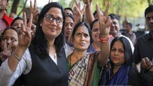 Seema Samridhi Kushwaha along with Nirbhaya mother