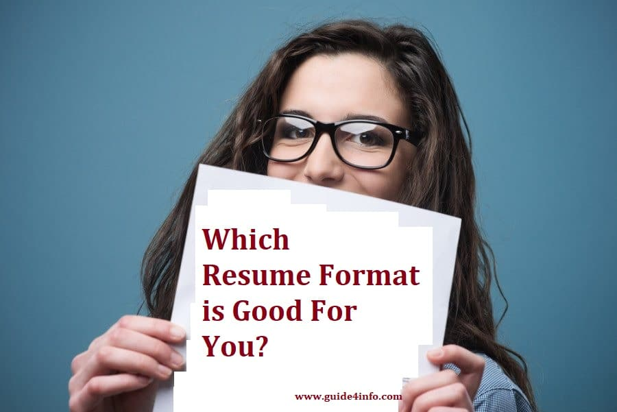 Resume Formats by Guide for info