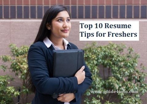 Resume Tips for Freshers