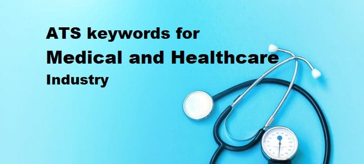 ATS keywords for Medical and healthcare